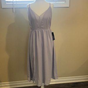 Lavender Lace Backless Midi Dress